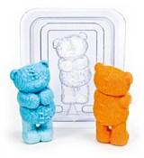Медвежонок 3D форма пластиковая
