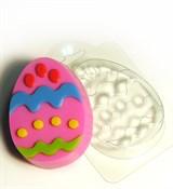 Яйцо с узором №2 форма пластиковая
