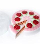 Торт с розами под нарезку форма пластиковая