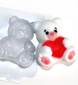 Мишка с сердцем форма пластиковая