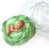 Малыш в капусте форма пластиковая