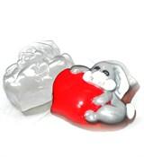 Влюблённый заяц форма пластиковая