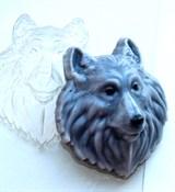 Волк форма пластиковая