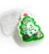 Ёлка с подарками форма пластиковая