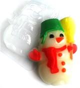Снеговик2 форма пластиковая