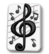 Скрипичный ключ форма пластиковая