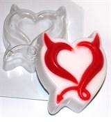 Чёртово сердце форма пластиковая