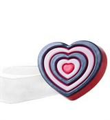 Сердце-мишень форма пластиковая