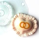 Сердце с кольцами форма пластиковая