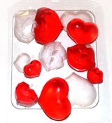 Сердечки-поцелуйчики форма пластиковая