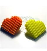 Вафельное сердце форма пластиковая