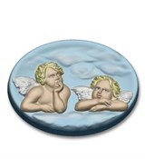 Ангелы в облаках форма пластиковая