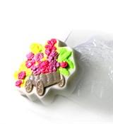 Цветочная тележка форма пластиковая