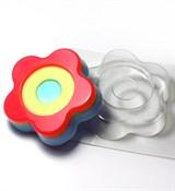 Цветок-круг глю-база форма пластиковая