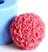 Шар из роз 3D силиконовая форма