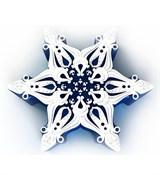 Снежинка2 2D силиконовая форма