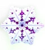 Снежинка 2D силиконовая форма