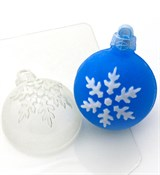 Шар Снежинка2 форма пластиковая