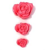 Роза набор 3 шт. 2D силиконовая форма