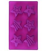 Яркие звёзды (лист 6шт.) силиконовая форма