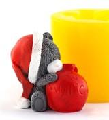 Мишка с шариком 3D силиконовая форма