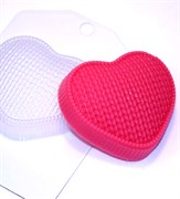 Сердце вязаное форма пластиковая