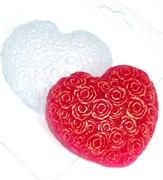 Сердце из роз форма пластиковая