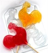 Петушки на палочках форма пластиковая