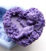 Ангел с розами 2D силиконовая форма