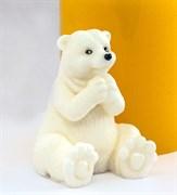 Белый мишка 3D силиконовая форма