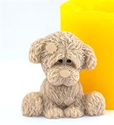 Грустный пёсик 3D силиконовая форма