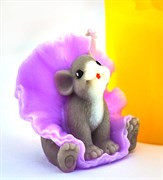 Мышка в юбке 3D силиконовая форма