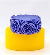 Цилиндр с розами 2D силиконовая форма