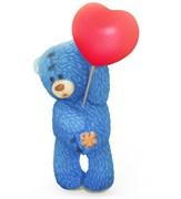 Мишка с шариком стоит 3D форма пластиковая