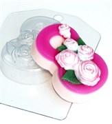 8 Марта Розы по диагонали форма пластиковая