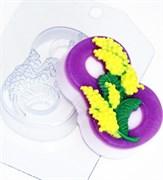 8 Марта Мимоза по диагонали форма пластиковая
