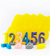 Цифры (0-9) 2D силиконовая форма