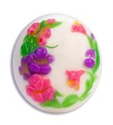 Цветы на овале форма пластиковая