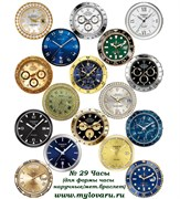 Водорастворимая бумага с рисунками №29 Часы (для формы часы наручные/мет.браслет)
