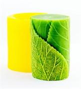 Цилиндр с листиками 3D силиконовая форма