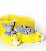Кролики 3D силиконовая форма