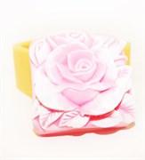 Квадрат Роза 2D силиконовая форма