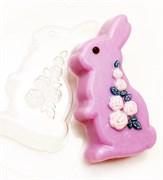 Кролик/ Розы форма пластиковая