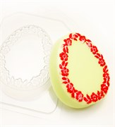 Яйцо Плоское/ Цветочная рамка форма пластиковая