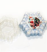 Снежинка под водорастворимку форма пластиковая