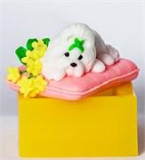 Пёсик на подушке 3D силиконовая форма