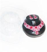 Колье и серьги форма пластиковая