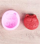 Котик 2D силиконовая форма