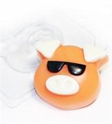 Хрюшка-мордашка/ В очках форма пластиковая
