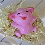 Весёлая свинка форма пластиковая